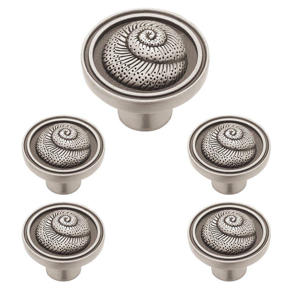 Franklin Brass PBF660-BSP-C1 Liberty 35mm Nautilus Kitchen Cabinet Hardware Knob (5 Pack), Brushed Satin Pewter, 5 Pack