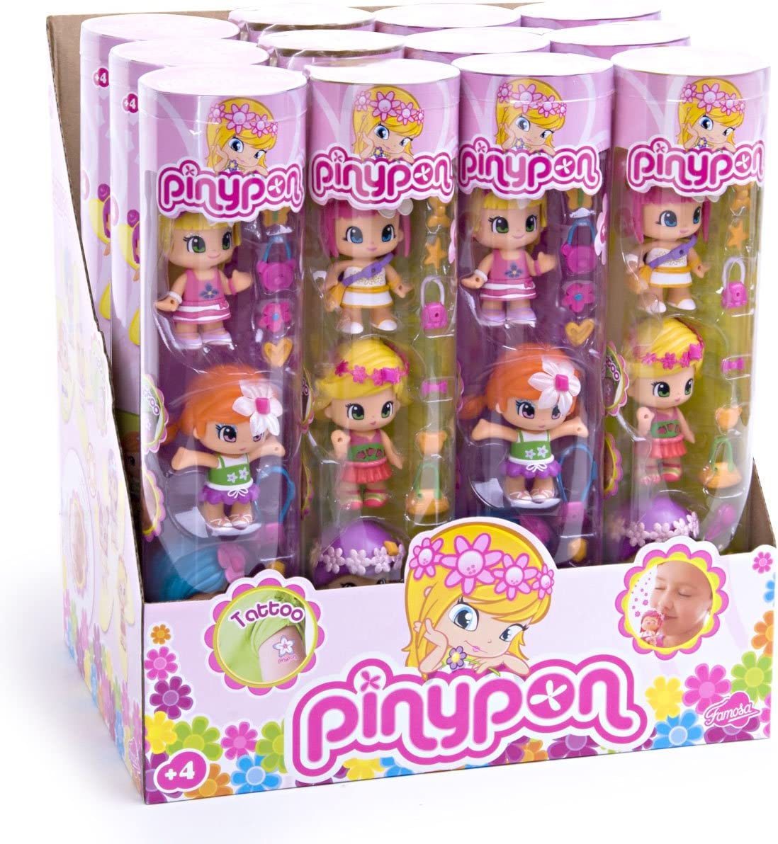 Amazon.es: Pin y Pon - Tubo 3 Figuras Flores: Juguetes y juegos