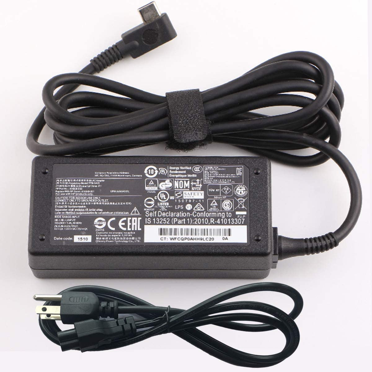 New 45W Type C Charger 15V 3A USB C Laptop Ac Adapter V5Y26AA For HP Spectre x360 13,Elite x2 1012 Power TPN-CA01 TPN-LA07 863469-001 844205-850 10-P000 Pavilion 12-B Chromebook 14-CA x2 12 x360 11