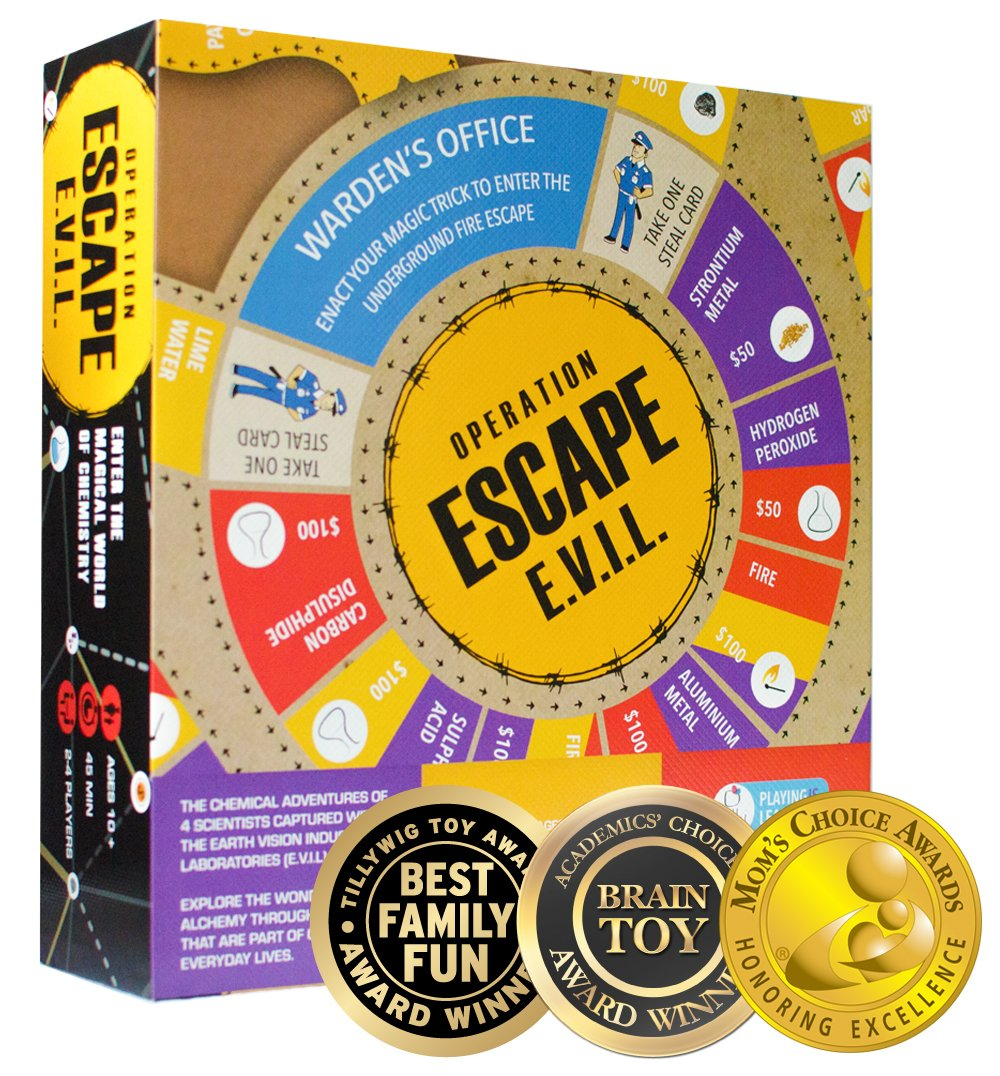 Kitki Escape Evil Fun STEM Board Game with Real Science Tricks & Trivia Toy for Girls & Boys by Kitki