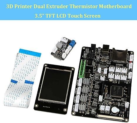makergroup 3d impresora placa base v3.9 doble extrusor termistor ...