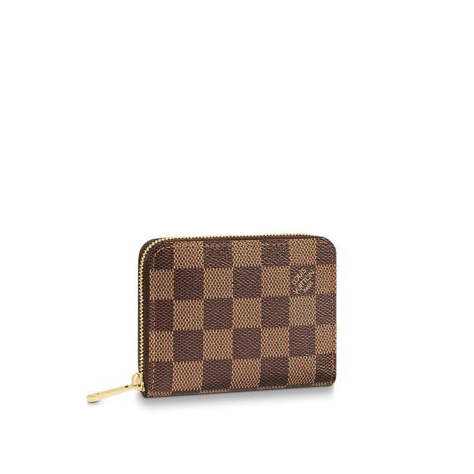 Amazon.com: Louis Vuitton Zippy Monedero Damier Ebene lona ...