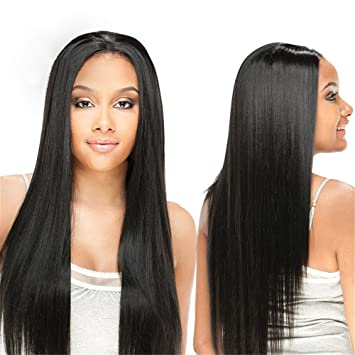 Full Lace Wig Human Hair Straight Elees Hair Virgin Hair Wigs With Baby
