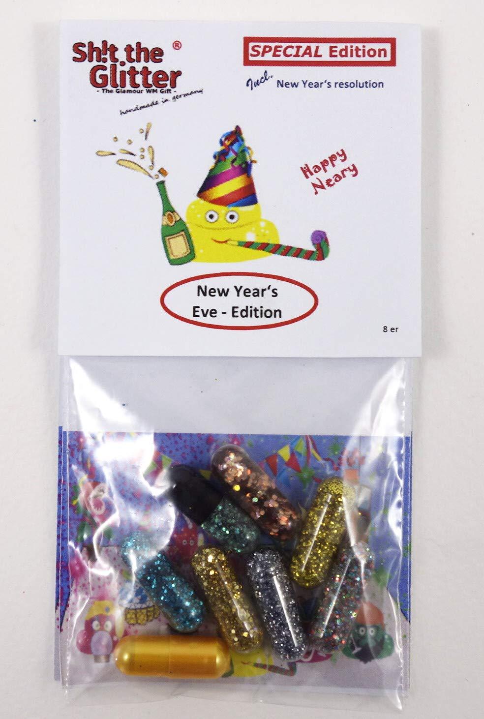 Cacare il Glitter - Capodanno Edizione // nuovo rituale - invece Bleigieß en // bel regalo per gli ospiti di Capodanno // glitter colpo e augurare // divertente sorpresa, divertimento fresco e di conoscere // Happy New Year - regalo Shit the Glitter