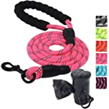 Ozpaw Dog Leash Long Durable Highly Reflective Lightweight Lead for Small Medium and Large Dogs - Pink