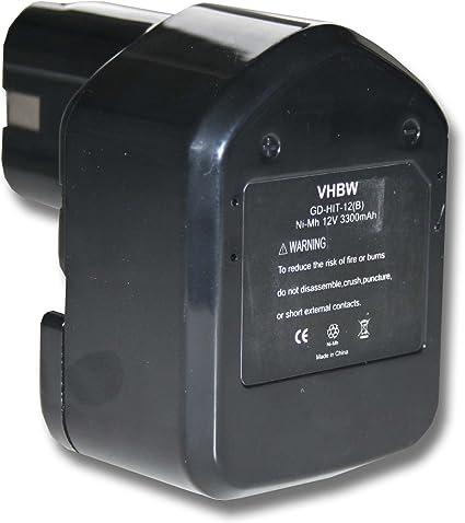 DS 12dvf3 DS 12dvf2 Outil pile batterie 12 V 3.300 mah pour Hitachi DS 12dvf