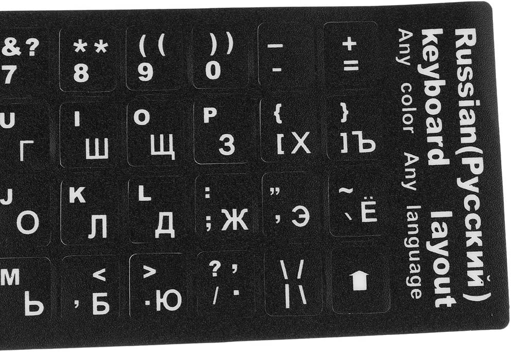 Dustproof Russian Keyboard Sticker Standard Letters Button Alphabet Layout