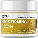 GENIUS Neck Firming Cream, Anti Aging Moisturizer for Neck & Décolleté, Double Chin Reducer, Skin Tightening Cream 2 fl oz.