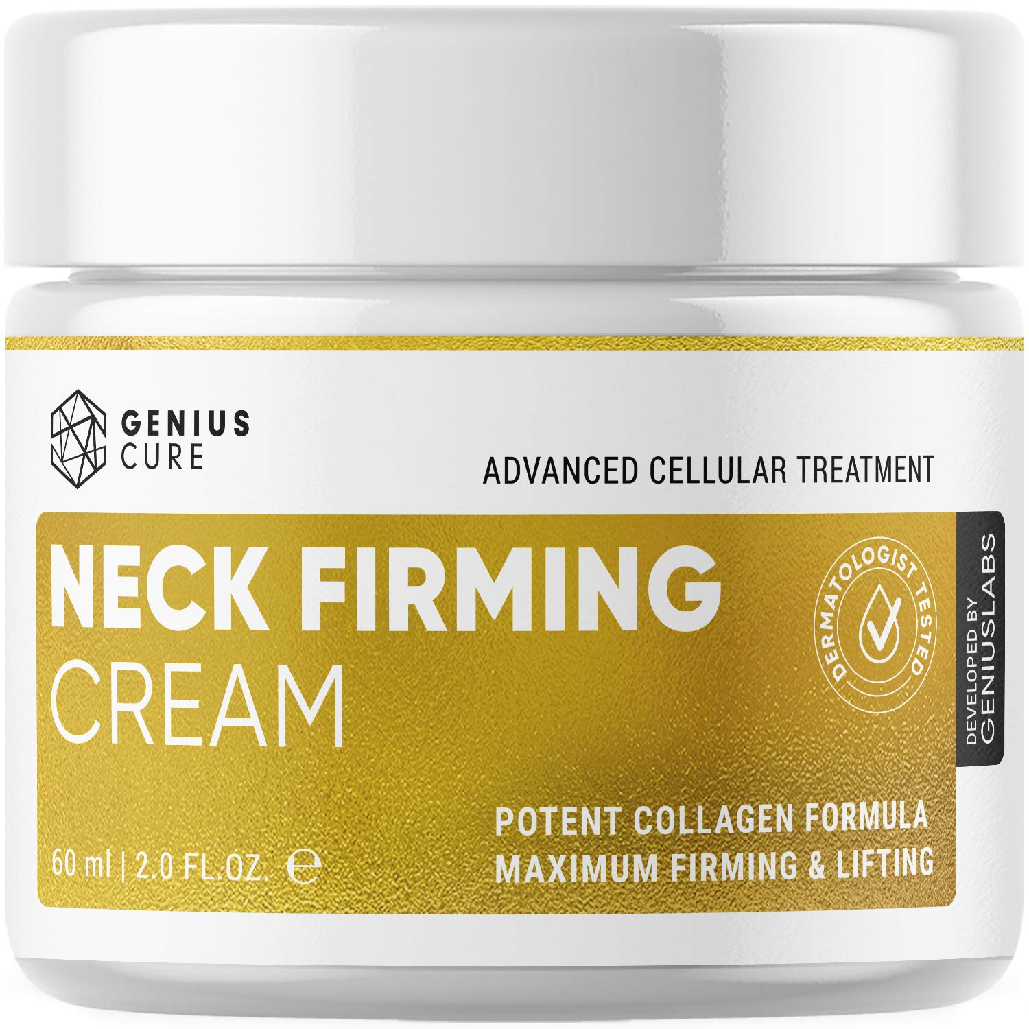 Neck Firming Cream, Anti Aging Moisturizer, Skin Tightening and Crepe Skin Repair Cream, Double Chin Reducer 2 Fl Oz.: Beauty