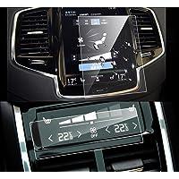 """LFOTPP Volvo S90 V90 XC90 8,7"""" folia ochronna na ekran nawigacji i klimatyzacji, 9H, odporna na zadrapania, folia Anti…"""