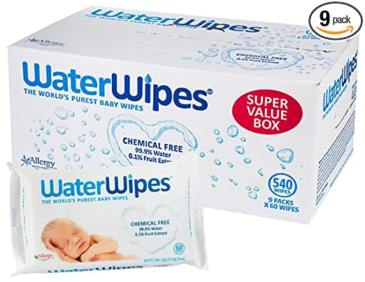 DermaH2O WaterWipes Wipes, 60 Count (Pack of 9) $33.99 at  amazon.com online deal