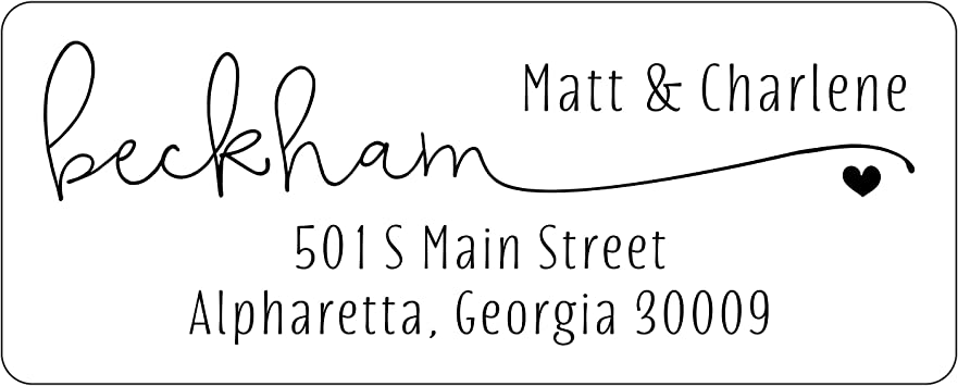 Amerixun Custom Address Label,Return Address Adhesive Peel and Stick Labels,Personalized Wedding,Mail,Address Label 240 Pack Artistic Name