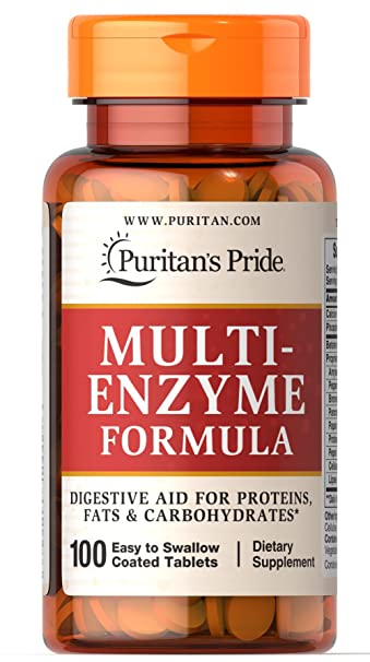 Amazon.com: Puritan s Pride Multi enzyme-100 tabletas ...