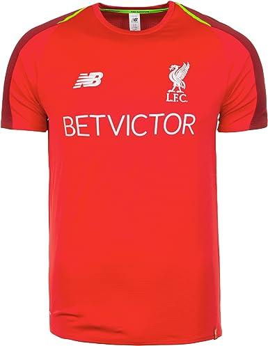 Amazon Com New Balance Men S Liverpool Fc 2018 19 Shortsleeve Training Jersey Racing Red Small Clothing