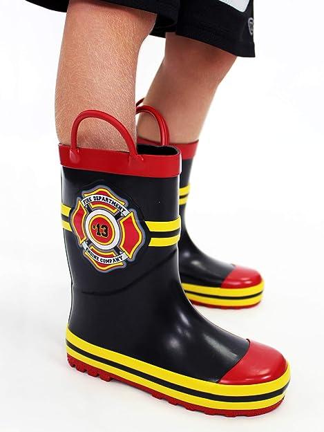 : Fireman Firefighter Botas de lluvia para niños
