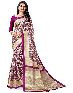 c2efd1808e Amazon.com: Nivah Fashion Women's Chiffon Fancy Plain Lace Border ...