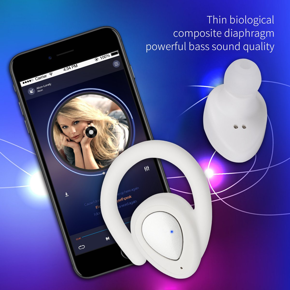 ... Wireless Headphones Sports Stereo Earbuds In-ear Noise Cancelling Earphones with Mic for iPhone And All Phone with Bluetooth device: Toys & Games