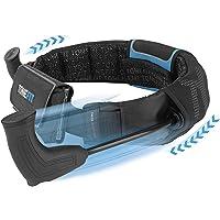 ToneFit Unisex– Erwachsene aus: Der Höhle der Löwen Fitnessgürtel für einfaches Ganzkörpertraining | Ideal beim Laufen | Funktionsweise wie EIN Crosstrainer, Schwarz Blau
