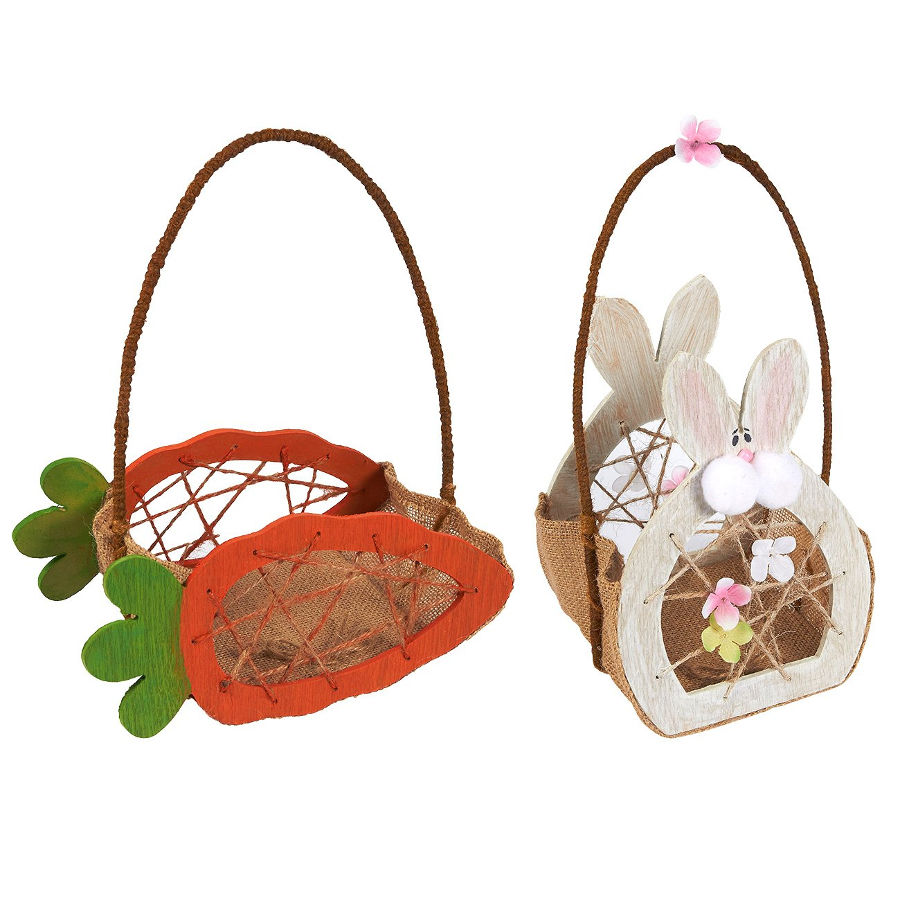 Amazon.com: Easter Egg Baskets - 2-Count Mini Gathering Baskets for ...