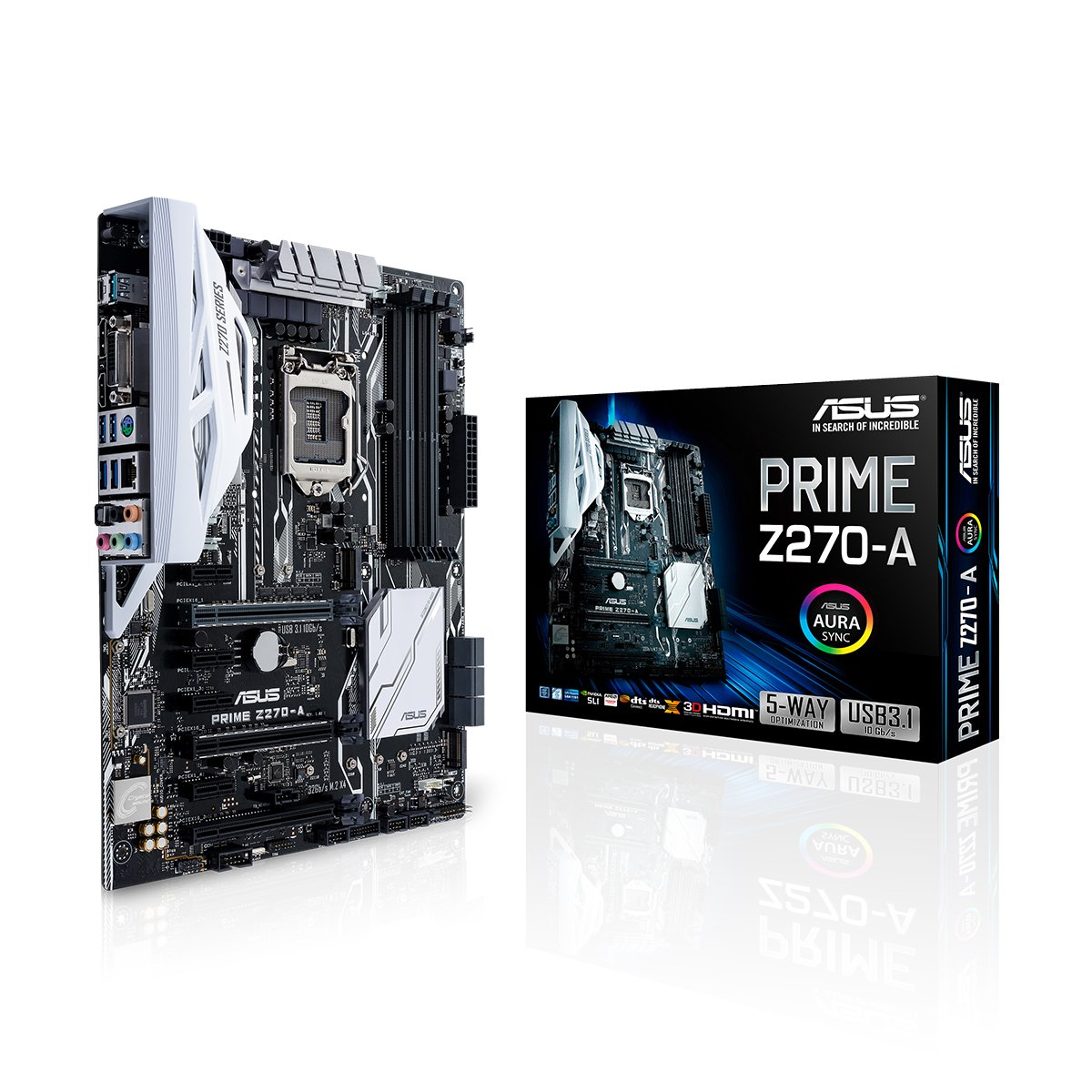 ASUS PRIME Z270-A LGA1151 DDR4 DP HDMI DVI M.2 USB 3.1 Z270 ATX Motherboard by Asus