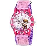 Disney Girls' Anna & Elsa Plastic Pink Watch