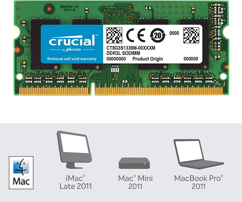 Crucial CT2K8G3S160BM - Kit de Memoria para Mac de 16 GB (8 GB x 2 ...