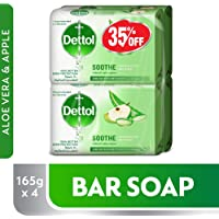 Dettol Soothe Anti-Bacterial Bar Soap 165g Pack Of 4 at 35% Off