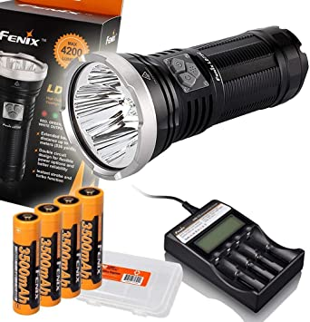 TK75 Fenix LD75C 4200 Lumens White Red Green Blue Multi-color LED Flashlight