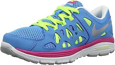 Nike Dual Fusion Run 2 (GS), Zapatillas para Niñas, Azul/Rosa/Blanco, 38.5 EU: Amazon.es: Zapatos y complementos
