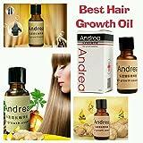Andrea - Crecepelo, producto contra la alopecia, 20ml, champú de jengibre.