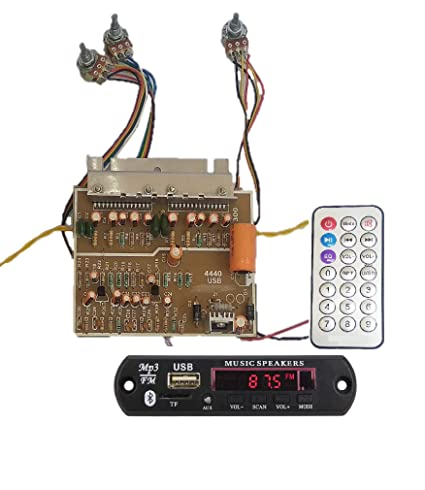 SAM RETAIL & SERVICES Power 100W DIY Stereo Audio Amplifier Circuit KIT  Board Bass Treble Balance 4440 IC with Bluetooth Module