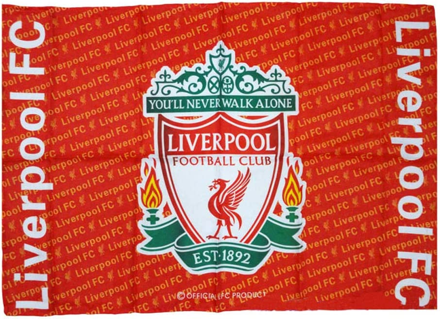 Louishop World Football Club Soccer Team Flag FC Banner for Wall Patio Garden Lawn Outdoor (37.5x25.6inch, Liverpool)