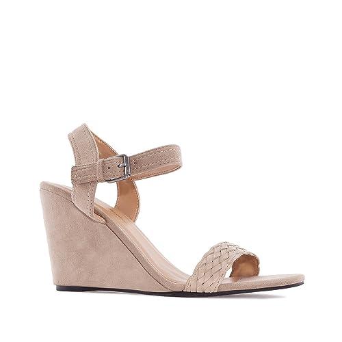 Chaussures Compensées en Suèdine. Petites et Grandes Pointures 32 35-42 45.   Amazon.fr  Chaussures et Sacs 00418d9184c3