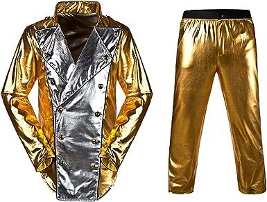 Disfraz de Michael Jackson historia Tour oro mundo chaqueta con ...