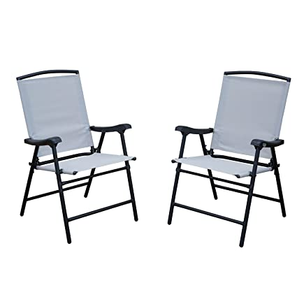 Miraculous Amazon Com Sln 2 Pack Outdoor Patio Folding Lawn Chairs Home Interior And Landscaping Palasignezvosmurscom