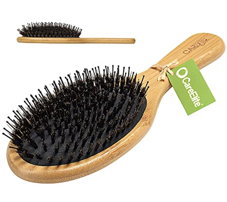 Care Elite ♻ Cabello Cepillo con cerdas de jabalí y estable lápices desenredar el pelo