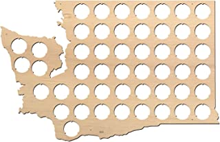 product image for All States Beer Cap Map Washington – 16x10,3 inches – 50 caps – Washington Beer Cap Holder – Birch Plywood