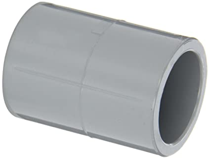Free Shipping Schedule 80 PVC 6 Inch Straight Gray Coupler