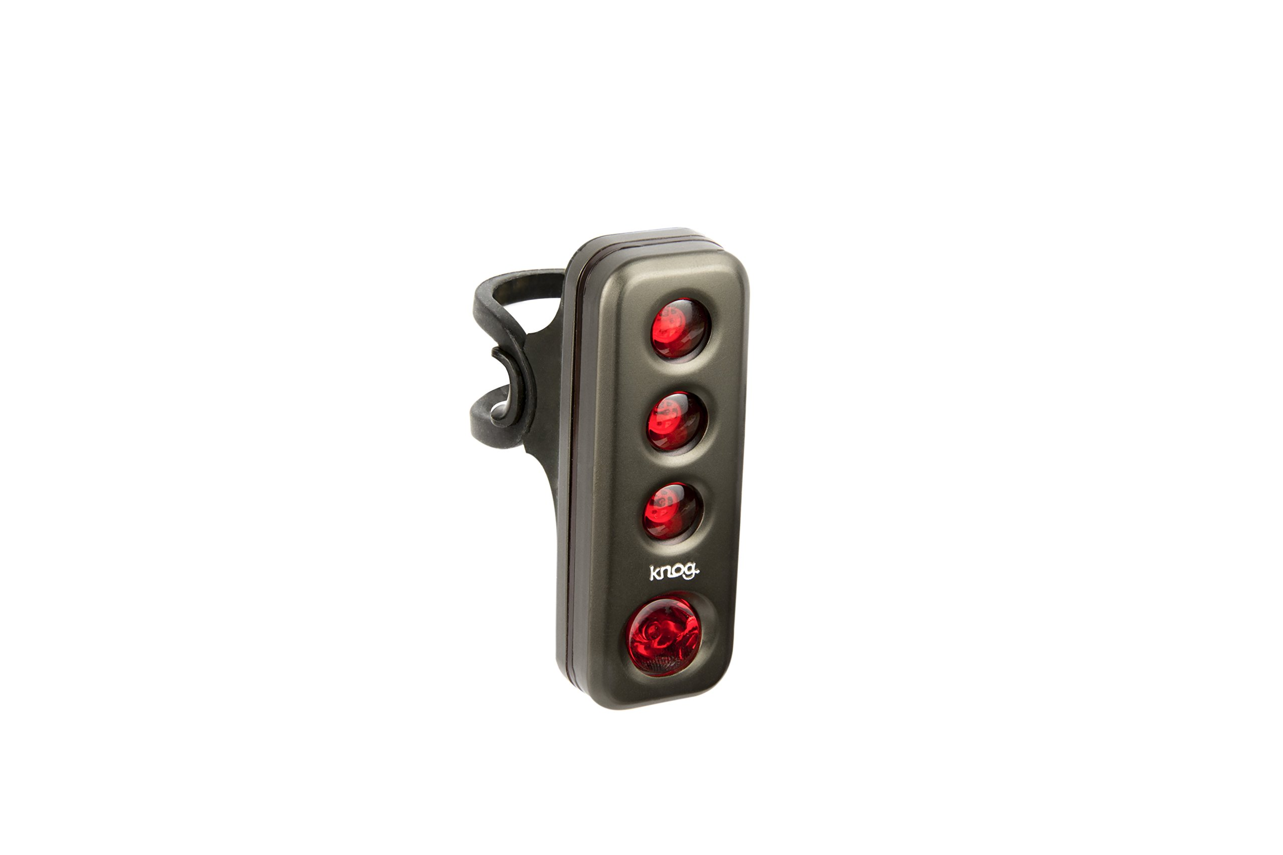 Knog Blinder Road R70 Taillight- Pewter, USB Rechargeable, LED, Water Resistant, Commuter Friendly, Easy Mounting, Battery Saving, Performance Cycling Bike Light by KNOG