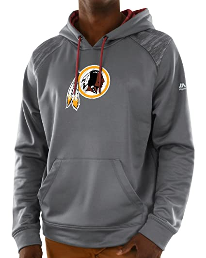 d60ec551f Image Unavailable. Image not available for. Color  Washington Redskins Majestic  NFL Armor 3 Men s Pullover Hooded Sweatshirt ...