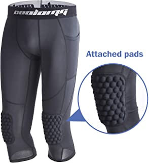 b31d84b25fd82 Legendfit Boys Basketball Knee Padded Pants 3/4 Kids Compression Tights  Leggings