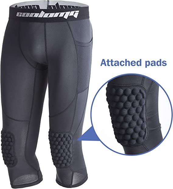 Bucwild Sports 3//4 Basketball Compression Pants Tights for Youth Boys /& Men