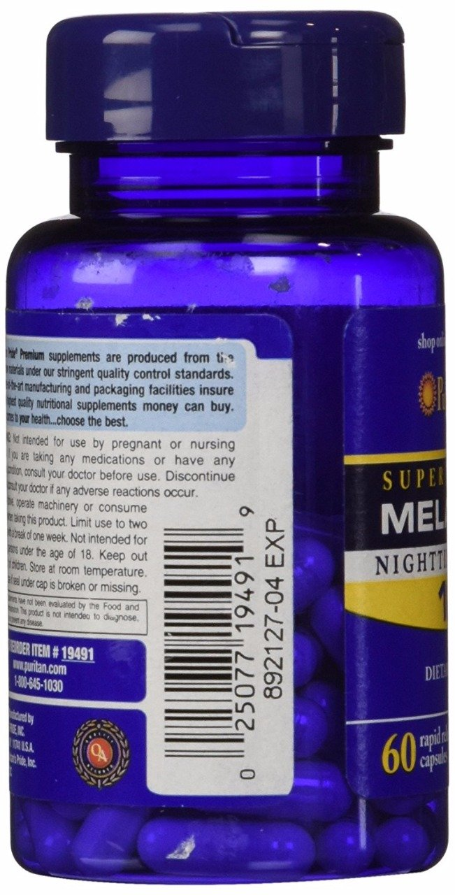 Amazon.com: Puritans Pride 2 Pack of Melatonin 10 mg Puritans Pride Melatonin 10 mg-60 Capsules: Health & Personal Care