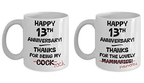 Amazon 13th Wedding Anniversary Gift Mug Set 13 Years