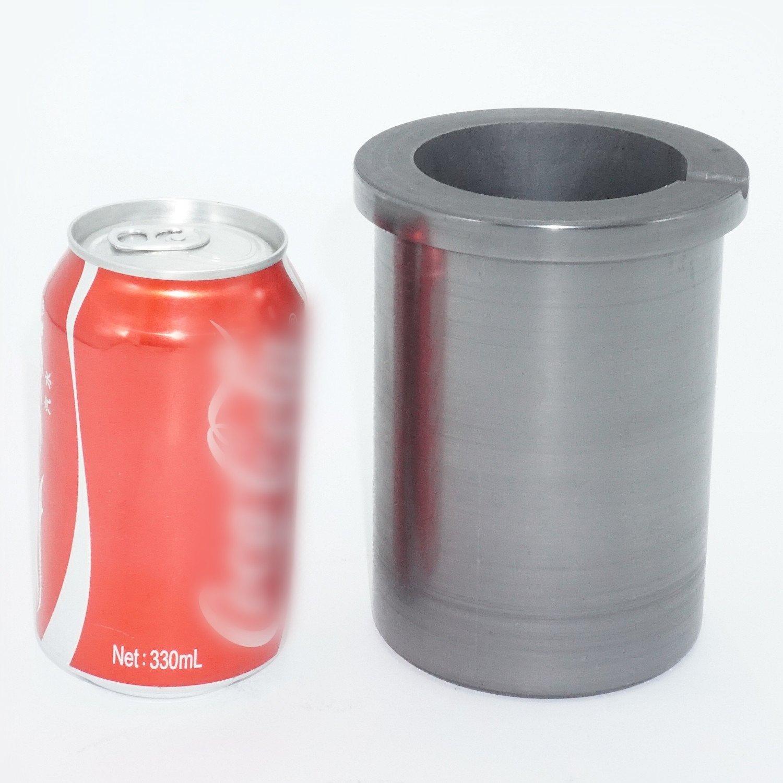 Eforlife Pure Graphite Crucible Metal Melting Gold Silver Aluminum Scrap Casting Ingot Mould (5KG - Fit a Coke Can) by Eforlife (Image #2)