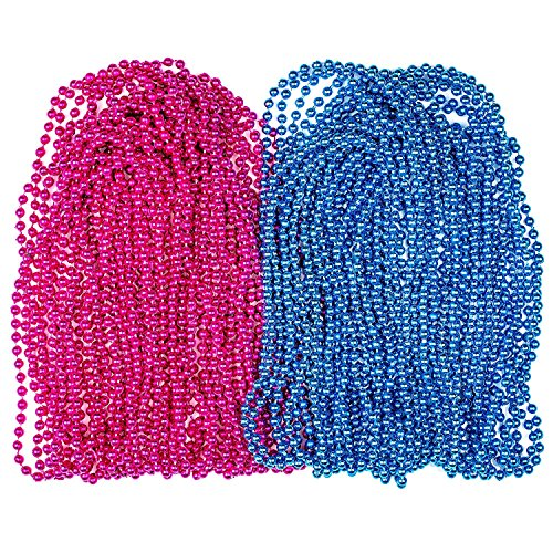 Set of 24 Pink and Blue Gender Reveal Beads for Announcement Party gender reveal party supplies by B.N.D TOP