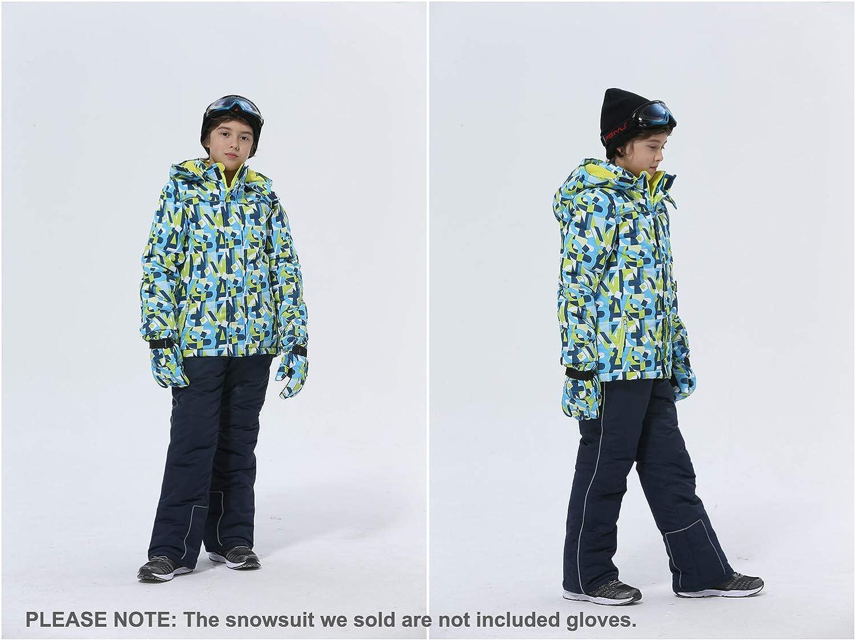 Hiheart Boys Snowsuit Winter Ski Jacket and Pants Set