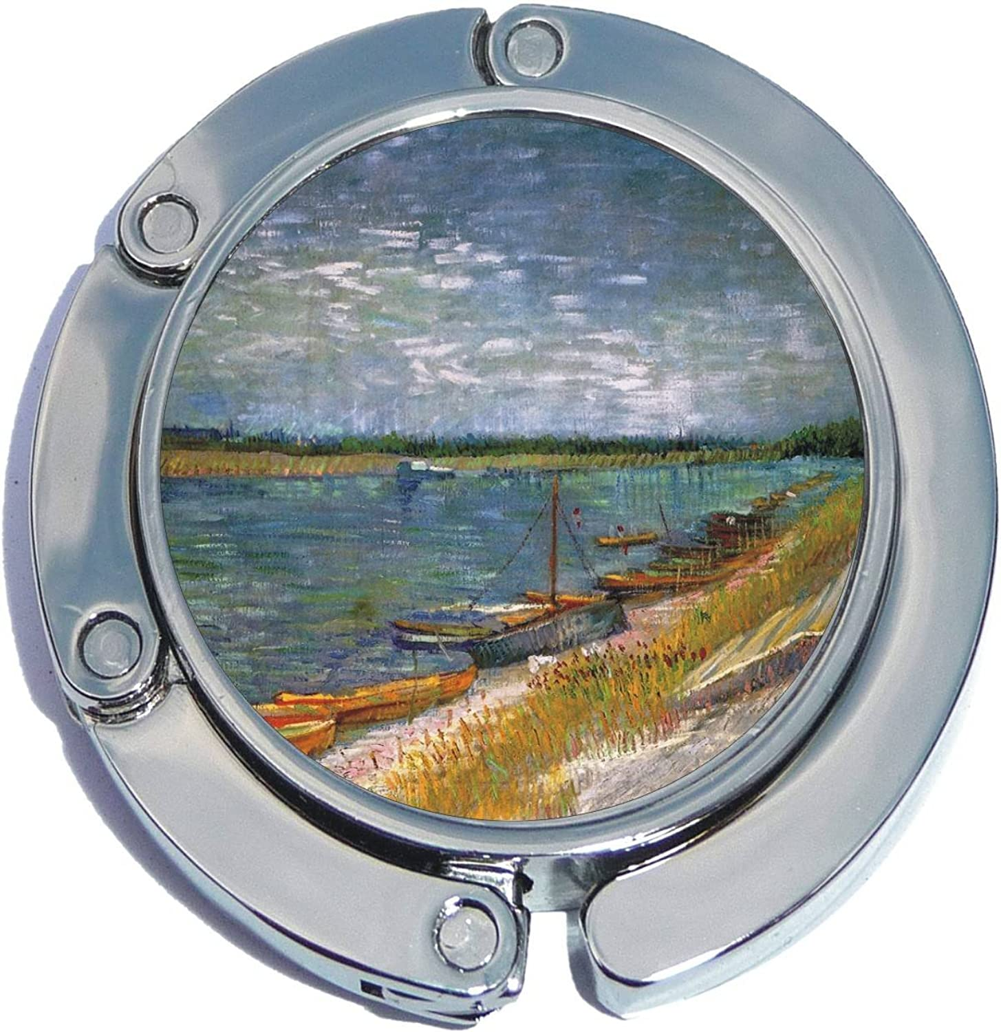 Boats Painting Foldable Purse Hanger