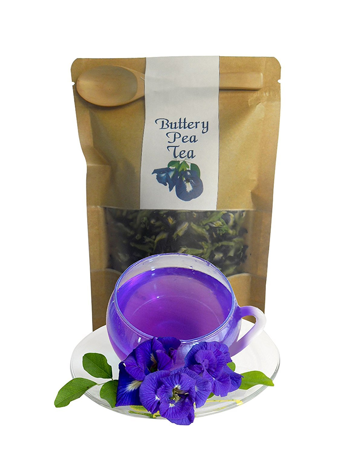 Organic Dried Butterfly Pea Flowers Product of Thailand 10,000g.(10kg.) by morning farm
