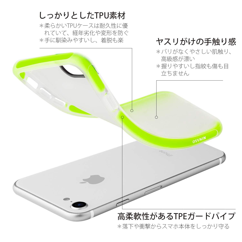 304ba71bbd Amazon | 【二重衝撃吸収】 Nimaso N1 iPhone8/7 専用保護ケース 【米軍MIL規格取得】 QI充電対応 フィルムと干渉せず  (グリーン) | ケース・カバー 通販
